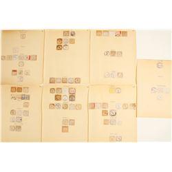 Montana Cut Square Postmarks  (58365)