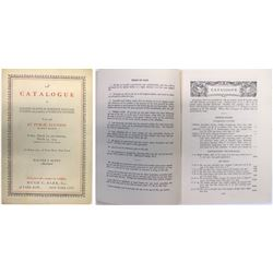 Rare Philatelic Auction Catalog, Scott & Barr, 1935  (63983)