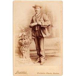 c.1890s Cabinet Card of Mail Carrier  (55643)