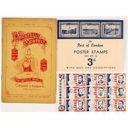 Philatelic Ephemera (Stamps & Magazine)  (55645)