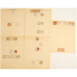 Wyoming Cut Square Postmarks  (58367)