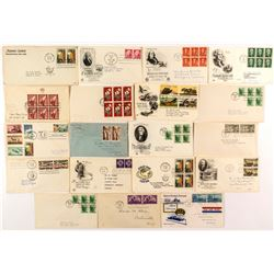 FDC's: Panes, strips, unofficial, sets  (53511)