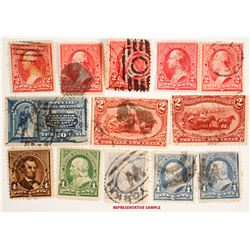 US Singles Stamp Group, 19th Century  (63363)