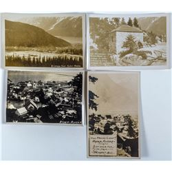 Four Real Photo Postcards of Hyder, Alaska  (44210)