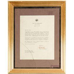 Framed Hubert Humphrey VP Letter  (73017)
