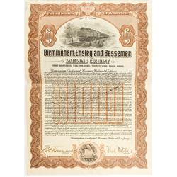 Birmingham, Ensley, and Bessemer Railroad Company Bond  (52337)