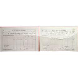 Sacramento & Placerville Railroad Co. Expense Bills  (66071)