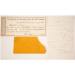 Placerville & Sacramento Valley Railroad Co. Documents  (60443)