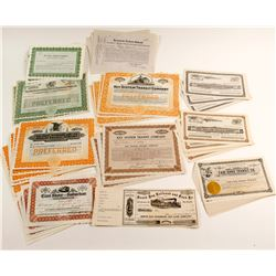 Variety of Calif RailRoad Certificates  (86924)