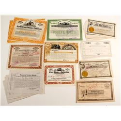 Variety of Calif RailRoad Certificates  (86925)