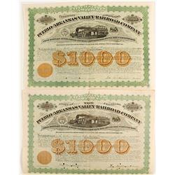 Pueblo and Arkansas Valley Railroad Co  bond  (86945)