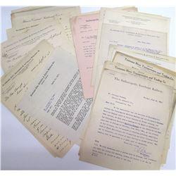 Southeastern Railroad Correspondence Archive w/ Hardware Merchant  (63985)