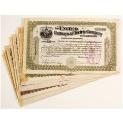 United Railways & Electric Company Stock Certificates  (86354)
