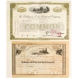 Baltimore and Ohio Railroad Stocks (2)  (64271)
