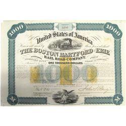 Boston, Hartford & Erie Railroad Co. Revenue-Imprinted Bond  (63087)