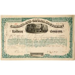 Chicago and Canada Southern Railway Company Stock Certificate  (63932)
