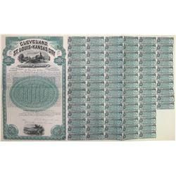 Cleveland, St. Louis & Kansas City Railway Co. Bond  (60499)