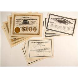 Three Montana Railroad Co stocks  (86938)