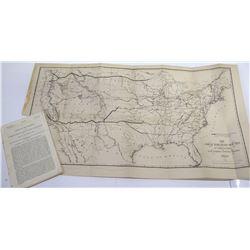 Senator William Stewart's Report on Pacific Railroads w/ Great Map  (66081)