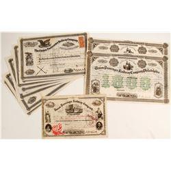 Union Passenger Railway Company Stock Certificates   (86355)