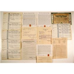 Railroad (letters, Stocks, Checks)  (86827)