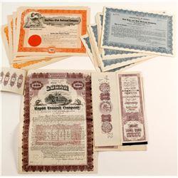 3 Utah Railroad Certificates  (86923)