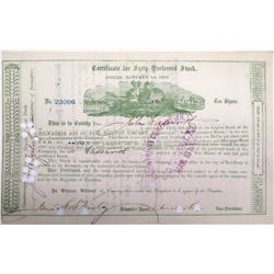 Milwaukee & St. Paul Railway Stock signed by Russell Sage  (63088)