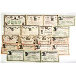 Different Pennsylvania  Union Railroad Co Certificates  (86900)
