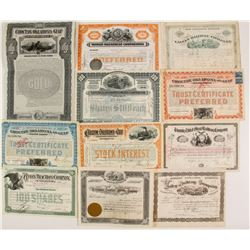Eastern Railroad Stock/Bond Certificates  (86911)