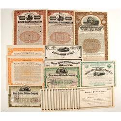 Mid-West Railroad Co Stocks/Bonds  (86943)