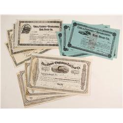 Utica, Clinton & Binghamton Railroad Company Stock Certificates  (86358)