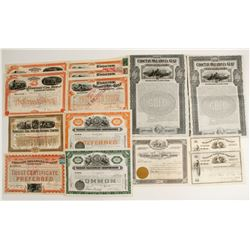 Variety of Rail Road Stocks & Bond Certificates  (86910)