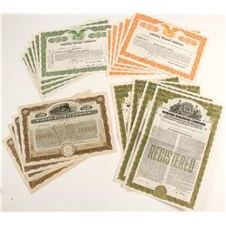 Virginia Transit/Wabash Railway Stock Certificates  (86356)