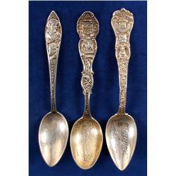 Sterling Silver Souvenir Spoons  (80941)