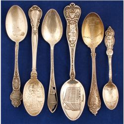 Sterling Silver Souvenir Spoons  (80945)