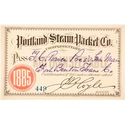 Portland Steam Packet Co. Steamer Pass, 1885, to T.C. Power  (63045)