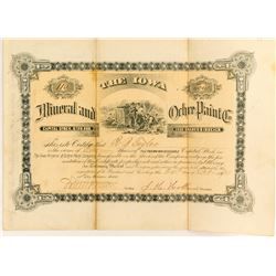 Iowa Mineral and Ochre Paint Co. Stock Certificate  (54574)