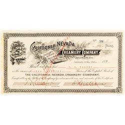 California-Nevada Creamery Co. Stock Certificate  (54356)