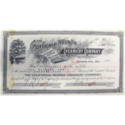 California-Nevada Creamery Company Stock Certificate  (63074)