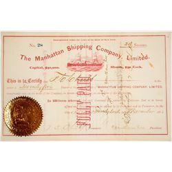 Manhattan Shipping Company, Ltd. Stock Certificate   (62754)