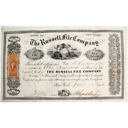Rare Russell File Co. Stock Certificate  (64055)