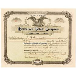Hollenbeck Bicycle Saddle Company Stock Certificate  (54569)