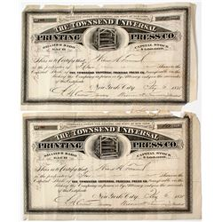 Townsend Universal Printing Press Co. Stocks (2)  (64062)