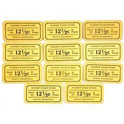 Nugget Cigar Store Cardboard Tokens  (38619)