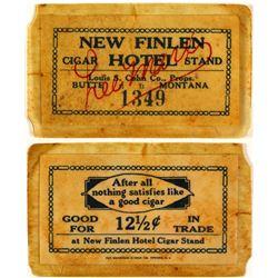 New Finlen Hotel Cigar Stand Token  (74074)