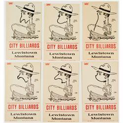 "City Billiards ""Smile!"" Cards (Lewiston, Montana)  (38272)"
