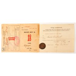 Lusitania Immigrant Inspection Card and Token  (81003)