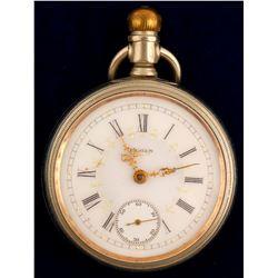 Elgin Pocket Watch/ Gold Hands  (63865)