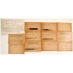 Wells Fargo & Co. Receipt; Shasta, CA Money Orders Stolen or Lost  (63442)