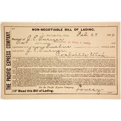 Pacific Express Bill of Lading  (63170)